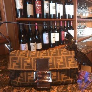 Authentic FENDI Zucca Pattern Mamma Bucket bag